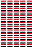 Yemen Flag Stickers - 65 per sheet
